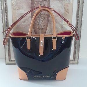 Dooney & Bourke Black Patent Leather Handbag
